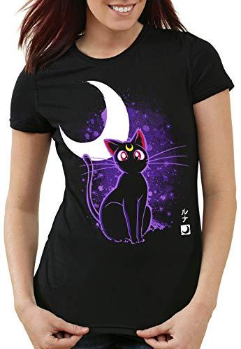 style3 Luna Damen T-Shirt Moon mondstein Japan Sailor, Größe:XS