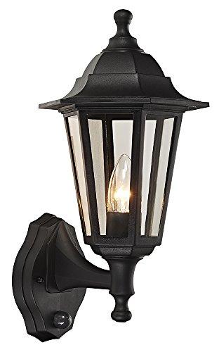 Haysoms - Lámpara de pared tradicional para exteriores con sensor de movimiento PIR