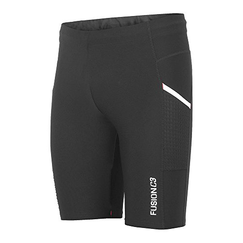 FUSION Jungen C3 Tight Shorts, schwarz, M