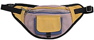 TOOGOO Unisex Pockets Stitching Waterproof Pockets Chest Bag Travel Cashier Belt Hip Hop Men and Women Bag Yellow