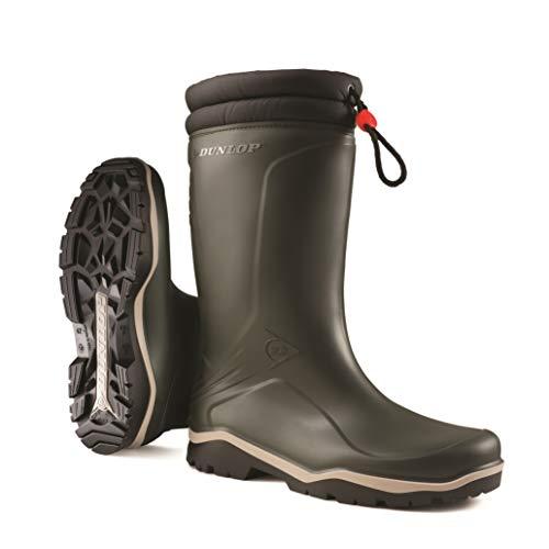 Dunlop K486061 Blizzard - Stivali di gomma da lavoro, Unisex-Adulti, Nero, 43 EU