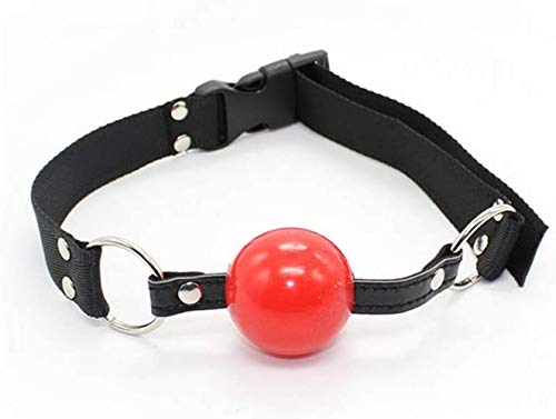 Tcouplesexy Yoga Nylon Mouth Plug Silicone Solid red Ball Buckle Stage Road