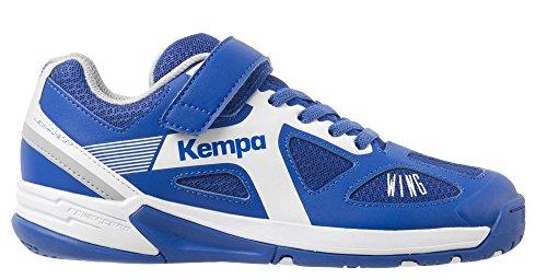 FanSport24 FanSport24 Kempa Fly High Wing Kinder Handballschuhe mit Klettverschluss blau weiß Größe 33
