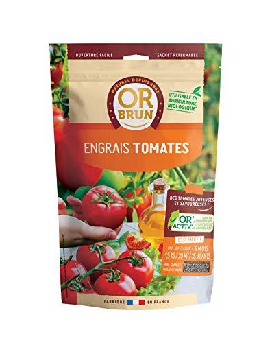 Or brun Engrais tomates granulés UAB, Sachet de 1,5kg, Non Applicable