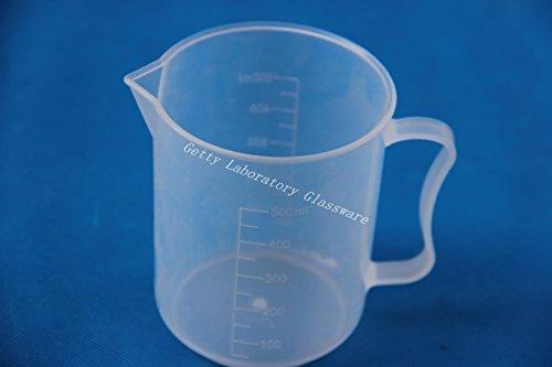 500ml vaso Graduado de plástico transparente de medición de PVC de plástico...