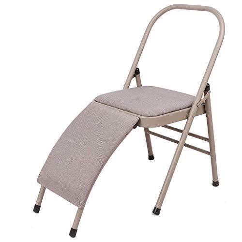 Mltdh Yoga-Stuhl, Iyengar-Hilfsstuhl, kühner, verbreiterter, umgekehrter Stuhl mit Lordosenstütze, professioneller Yoga-Übungshocker, Hilfswerkzeuge,B