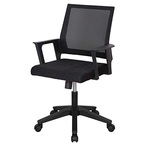 DULE DULE Desk Chair Home Office Chairs Swivel Mesh Computer Chair Ergonomic Mid Back Task Chair with Armrest Black