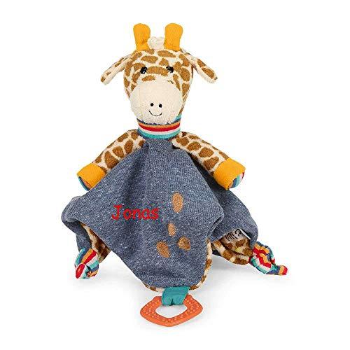 Sterntaler Schmusetuch mit Namen bestickt Greifring Baby Giraffe Greta Geschenk zur Geburt Schnueffeltuch