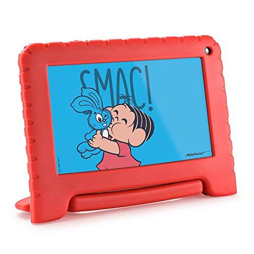 Tablet Multilaser Turma da Mônica Wi Fi Tela 7 Pol. 16GB Quad Core - NB341, vermelho