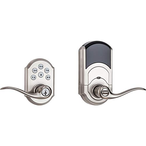 Kwikset 99120-037 SmartCode 912 Z-Wave Plus Keyless Entry Electronic Deadbolt with Tustin Lever Featuring SmartKey Security, Satin Nickel