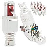 NAUC Connecteur réseau sans outil RJ45 CAT6 LAN UTP Connecteur sans outil CAT5 CAT7 Câble de pose Câble de raccordement modulaire Plug Connecteur à sertir