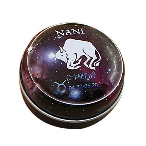 TOOGOO Baume Magique Parfum Solide Déodorant Solide Magie Du Zodiaque de Constellation Pour Les Femmes Hommes (Taureau)