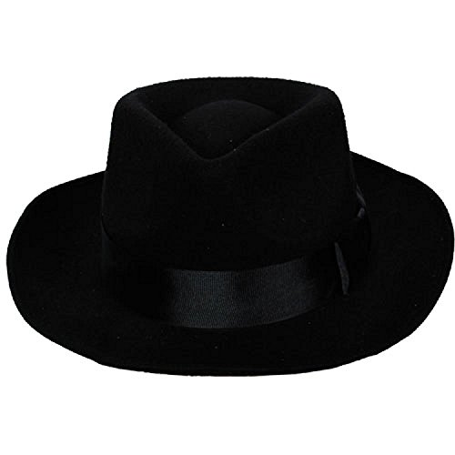 Classic Gangster Hat with satin band - Adult Fancy Dress Accessory