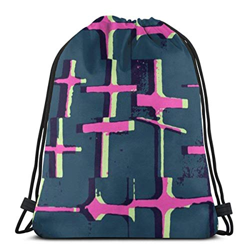 Yuanmeiju Men Women Bolsa de Gimnasio,School Mochila con cordón,Kids Benched Bag,Sport Casual Daypack,Brown Skull Pattern 3D Print String Bag Sackpack Cinch Tote Bags