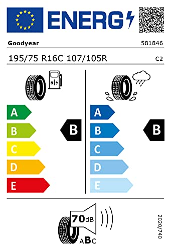 195/75R16C GOODYEAR TL EFFI.GRIP CAR MO-V 107/105R *E*