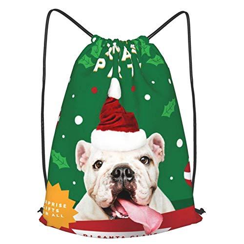 Folleto de fiesta de Navidad con bonito cordón para perro, Bapa de deporte, gimnasio, yoga, Sapa hombro, Rusa Casual Daypa al aire libre para mujeres y hombres