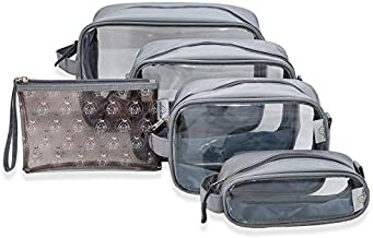 Diaper Bag Organizing Pouches Set of 5 – Clear Baby Backpack Organization Inserts and Luggage Accessories - Toddler and Kids Travel Packing Cubes - Wipe Clean Wet Dry Clothes Storage Pouch Bags