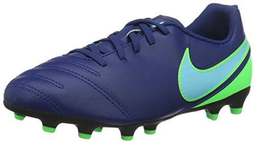 Nike Jr Tiempo Rio III Fg, Scarpe da Calcio Unisex-Bambini, Blu (Coastal Blue/Polarized Blue/Rage Green), 38.5 EU