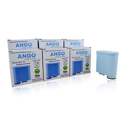 6x Wasserfilterpatronen ersetzen Saeco & Philips AquaClean CA6707, CA6903, CA6903/00, CA6903/01, CA6903/99 Filter, kompatibel mit Saeco Kaffeemaschinen - PureWater Ango-CF9 Kartusche
