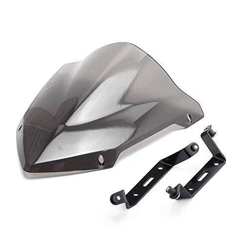 MT07 Motorrad Windschild Windschutzscheibe Verkleidungsscheibe Windschutz für Schutz des Kühlers Kompatibel mit FZ MT07 FZ07 MT-07 FZ-07 2018 2019
