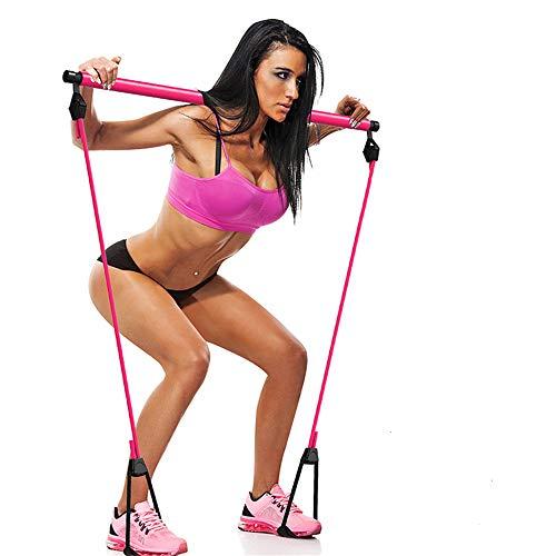 HUIHUAN Banda de Resistencia portátil Pilates y Barra tonificadora Gimnasio casero, Utilizado para Entrenamiento Corporal, Yoga, Fitness, Estiramiento, Esculpir, Tono