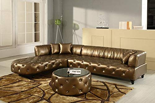JVmoebel Chesterfield Wohnlandschaft Couch Garnitur Ledersofa Sofa Ecksofa Luxus Design