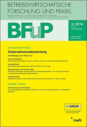 Unternehmensbewertung: BFuP 3/2019
