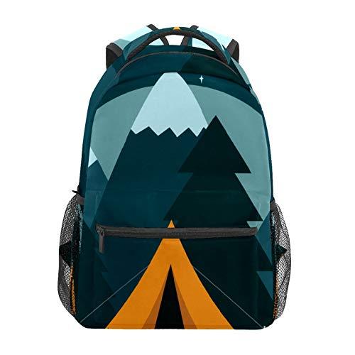 Campamento tienda de campaña naturaleza aventura escuela mochila de gran capacidad lona mochila mochila mochila de viaje casual mochila para niños adultos adolescentes mujeres hombres