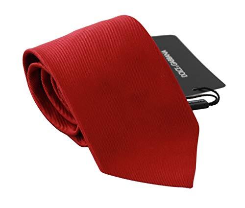 Dolce & Gabbana Corbata de seda sólida roja para hombre clásico