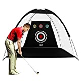 PGM Golf Net for Backyard Golf Practice Net 10x6.6x6ft for Swing Hitting Chipping with Target Perfect Home Golf Hitting Net with Carry Bag and Golf Balls Indoor/Outdoor/Garage/Drive Way Golf Gift