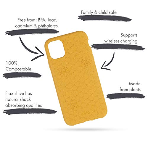 Pela: Phone Case for iPhone Plus-100% Compostable and Biodegradable - Eco-Friendly - Made from Plants