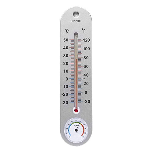 LittleGood Thermometer Indoor with Humidity – 9.8 inch Wall Vertical Thermometer/Hygrometer, Temperature Monitor for Home, Household Thermometer for Room Temp