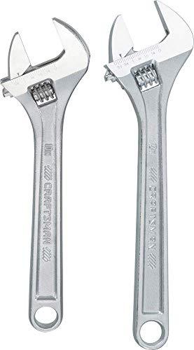 CRAFTSMAN Adjustable Wrench Set, 2-Piece (CMMT12002)