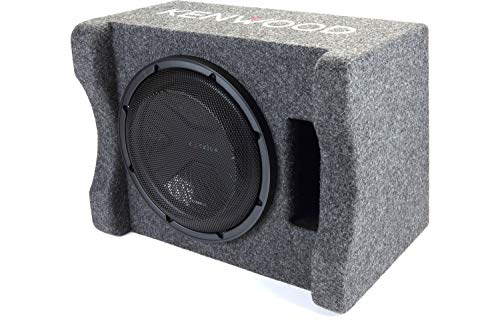 Kenwood Excelon P-XW1241S 12  Preloaded Subwoofer Enclosure | Ported Enclosure with One 12  4-ohm Subwoofer