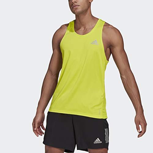 adidas Men's Own The Run Singlet, Acid Yellow, X-Large