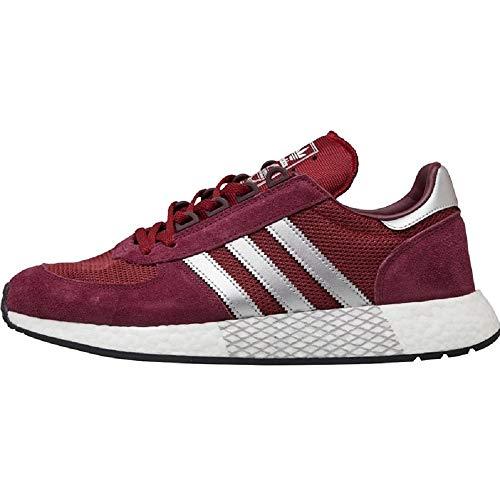Mens Adidas Originals Marathon x5923 Trainers in Burgundy