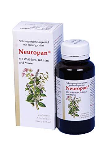 Neuropan® Nerventropfen , mit Weißdorn Baldrian und Minze | Alkoholfrei | Nur natürliche Extrakte