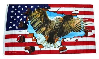 Flagge / Fahne USA - Adler Steine NEU 90 x 150 cm