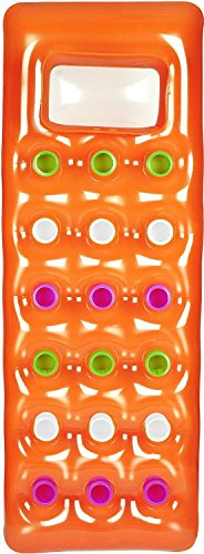 Bestway 43040 Solar Luftmatratze mit Sichtfenster (188 x 71 cm, Orange)