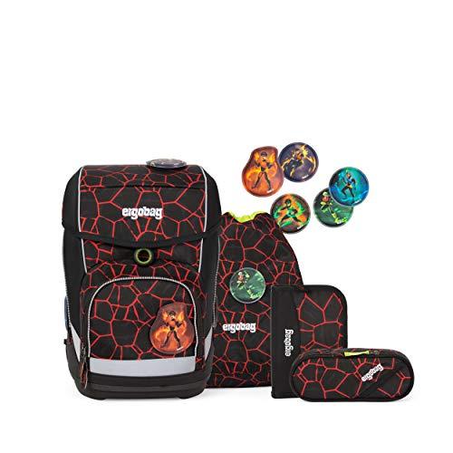 ergobag cubo Set - ergonomischer Schulrucksack, Set 5-teilig - SupBärheld - Braun