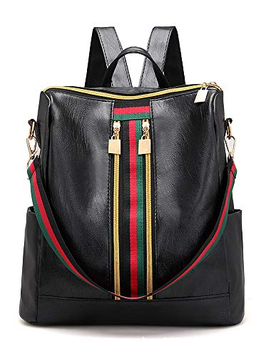 Bagheat Backpack Purse for Women Shoulder Bag Rucksack PU Leather Backpack Casual Lightweight Travel Bag