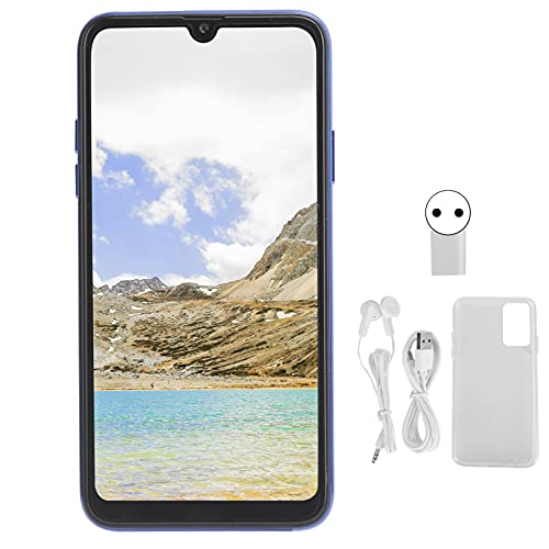 BOLORAMO Teléfono Móvil, S20U 6.5in Pantalla De Gota De Agua Cámaras Duales Smartphone Tarjeta Dual Doble Modo De Espera 4800mAh para Android 6.0 1.4 + 16G / 128GB Extensión(Enchufe de la UE)