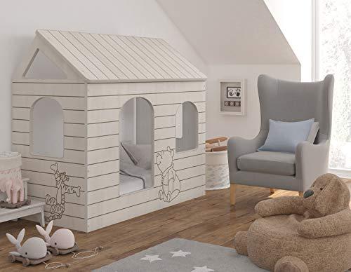 4myBaby GmbH Disney Original Hausbett Winnie The Pooh 80x160 cm Kinderbett Kinderhaus Jugendbett mit oder ohne Matratze (80x160 cm mit Matratze)