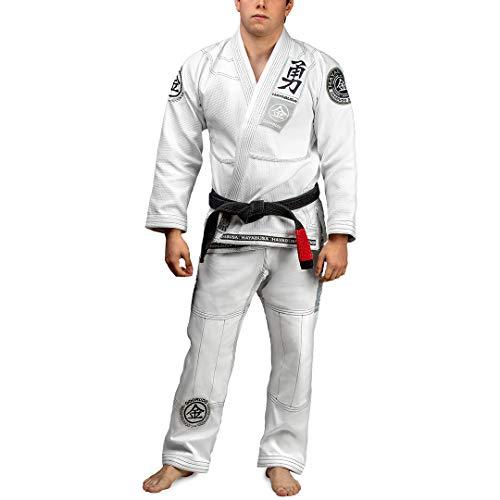 Hayabusa Goorudo 3.0 Gold Weave Brazilian Jiu Jitsu Gi (White, A2)