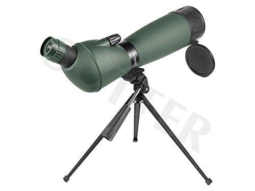 SUTTER Spektiv 25-75x75 mit Schrägeinblick & Tasche, Fernrohr für Vogelbeobachtung, Sportschützen, Jagd - Ohne Premium-Stativ