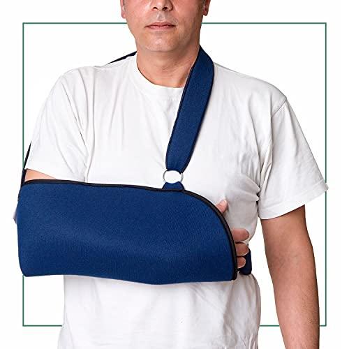 ORTONES | Cabestrillo Sling ajustable para hombro brazo | Inmovilizador | Talla universal | Azul.