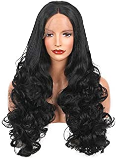 Brazilian Remy Human Hair Body Wave Lace Front Human Hair Wigs With Baby Hair Around Cap Middle Part Pre-Plucked Hairline