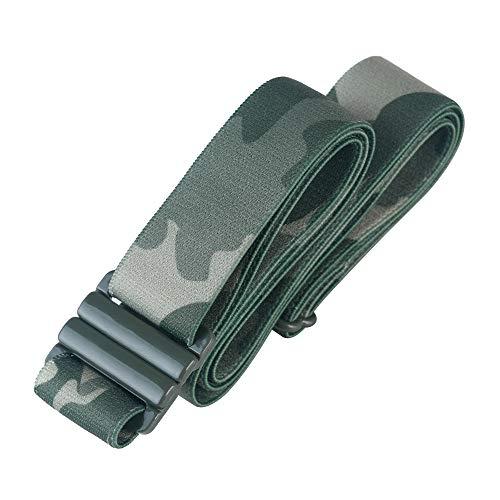 Adjustable elastic belt - Belts for Women, Non-Slip Waist Belt - No Show Flat Buckle Womens Belt - Camo
