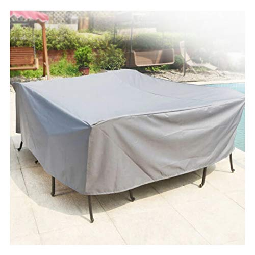 ASPZQ Garden Furniture Covers Waterproof, Rectangular/Oval Patio Table & Chair Set Cover, Dust Wind-Proof, for Table and Chairs (Color : Silver, Size : 200x160x70cm)