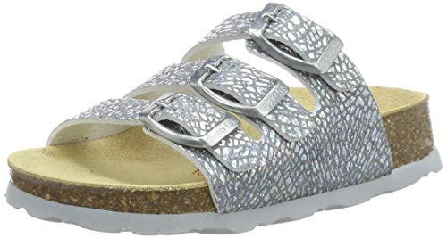 Superfit Mädchen FUSSBETTPANTOFFEL Pantoffeln, Silber (Silber Metallic 95), 31 EU